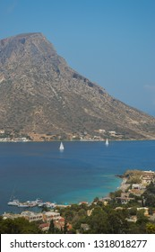 View of Telendos Island as seen from Kalymnos Island,Greece