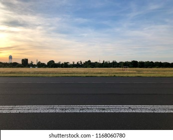 View from Tempelhofer Feld towards the Berlin city center.