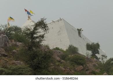 view of the Temple Shree Gopendraji Charan Chinha Govardhan Hill