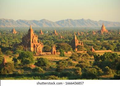 View of temples in Bagan