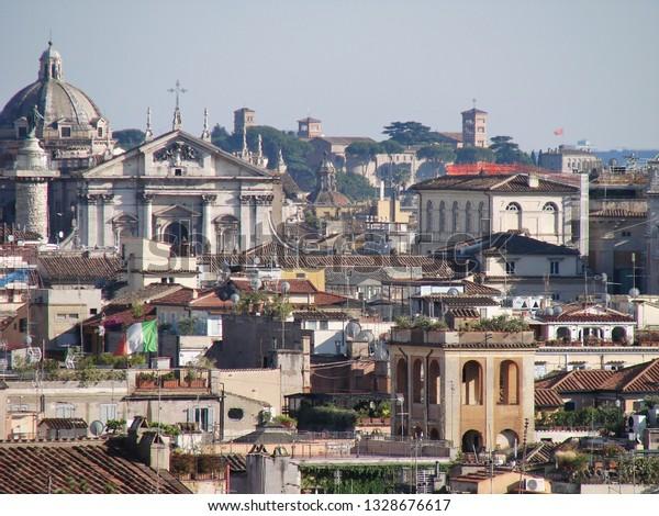 View Terrazza Del Pincio Rome Italy Stock Photo Edit Now