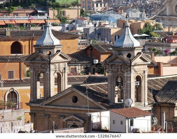View Terrazza Del Pincio Rome Italy Buildings Landmarks