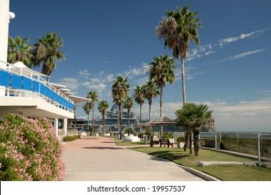 View from Texas State Aquarium, Corpus Christi TX USA