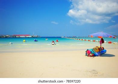View of thailand beach, Koh Lan, Pattaya