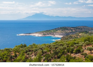 View from Thassos island, Greece