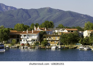 view from Thassos island  harbour Greece