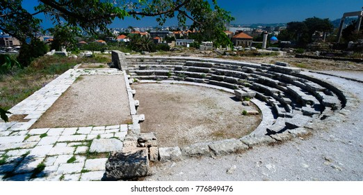 View to theater ruin at Byblos in Lebanon