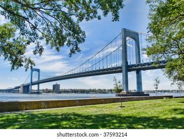 View of Throgs Neck Bridge in New York City