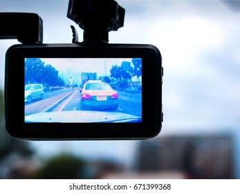 A View through a Dashcam in Traffic