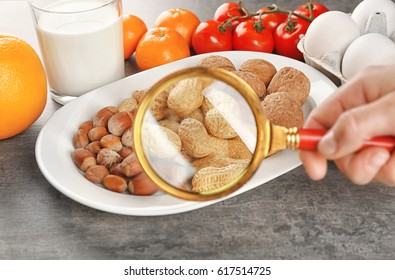 View through magnifier on allergic products