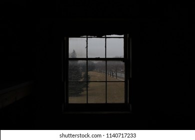View through an old window.