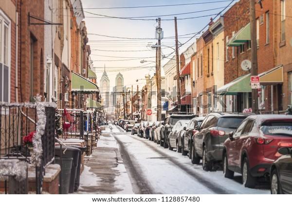 View through the streets of Philadelphia
