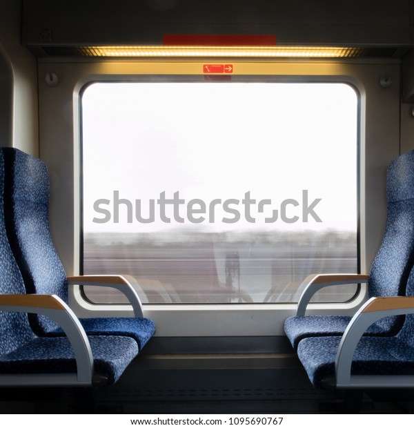 Excellent View Through Train Window Empty Seats Stock Photo Edit Now Gmtry Best Dining Table And Chair Ideas Images Gmtryco