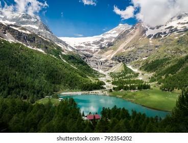 View through the window in Switzerland