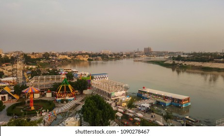 View of Tigris river in downtown Baghdad, Iraq
