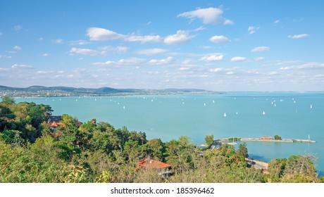 View from Tihany to Lake Balaton,Hungary