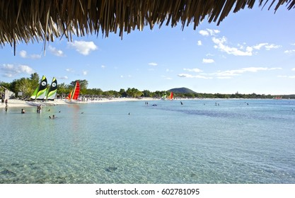 View from a tiki hut, Holguin province, Cuba
