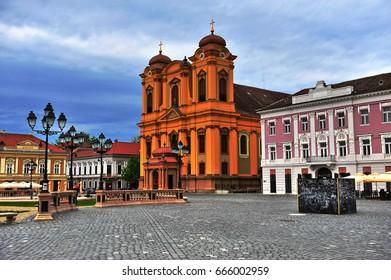 View of Timisoara old town, Romania