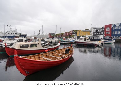 View of Tinganes from the marina, Torshavn Faroe Islands