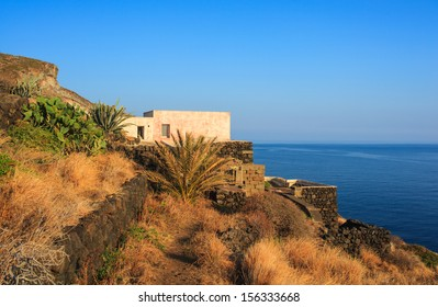 View of tipycal Dammuso in Pantelleria, Sicily