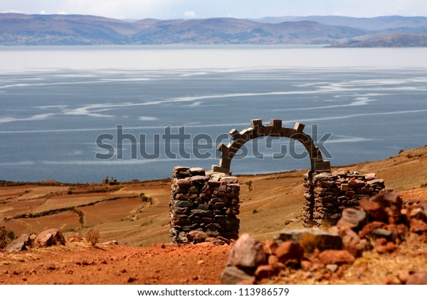 View of Titicaca Lake from Amantani