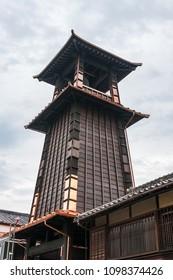 View of Toki no kane (Time Bell Tower) in Kawagoe town, Japan