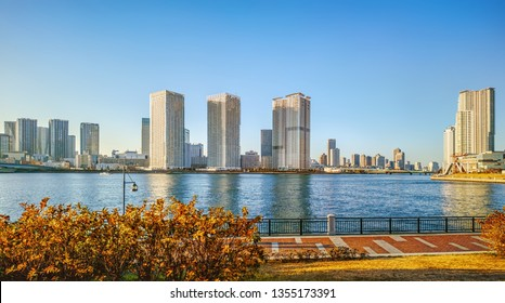 View of Tokyo Bay and High-Rise buildings skylines