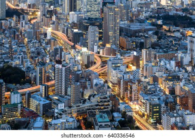 View of Tokyo city from Mori Tower, Roppongi Hills, Tokyo, Japan
