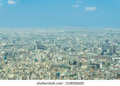 View from the Tokyo Sky Tree to the City of Tokyo in Japan 2018.