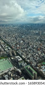 View from the Tokyo skytree in Japan. Image from above of one of the biggest cities in the whole world. Amazing  time, feeling, emocions.