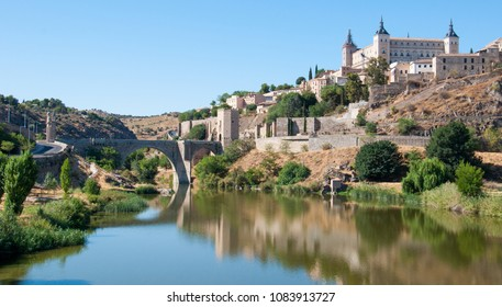 View of Toledo with Alcazar of Toledo and the Tagus