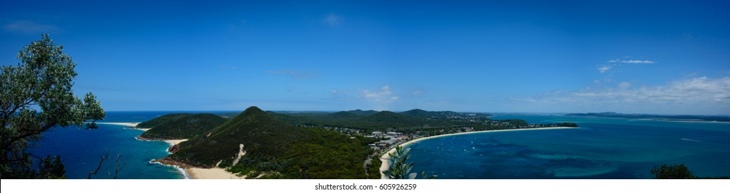 View from Tomaree head, Port Stephens, New South Wales