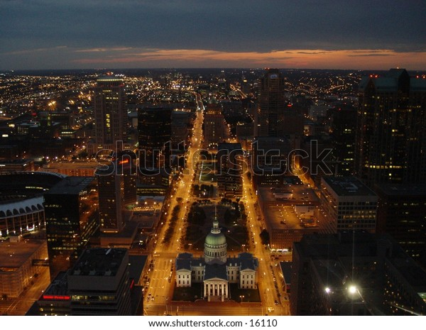 View from the top of the arch in St. Louis