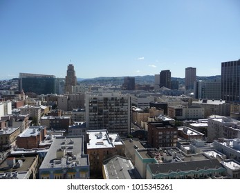 View from the top of a building in San Francisco, California, in the spring of 2010.
