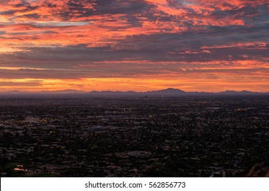 View from the top of Camelback Mountain. Scottsdale. Arizona