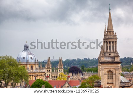 View Top Carfax Tower Main Oxford Stock Photo Edit Now 1236970525
