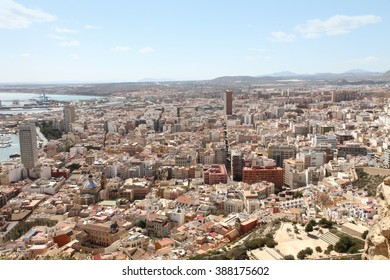 View from the top of the  Castle of St Barbara in Alicante, Comunidad Valenciana, Spain
