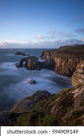 A view from the top of the cliff at Sennen, near Penzance, Cornwall