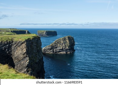 View from top of Cliff Walk, Kilkee County, Clare Ireland. August 2018