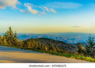 A view from the top of Clingman's Dome in Smoky Mountain National Park.