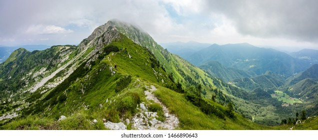 A view from the top of the Crna prst moutain in the Julian Alps, Slovenia - Shutterstock ID 1466890643