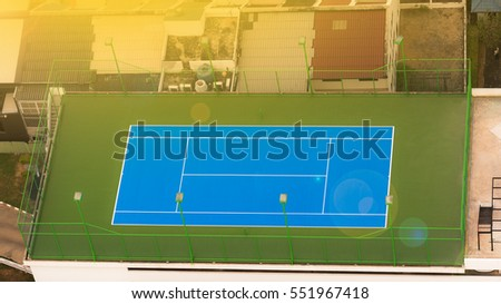 View Top Down Tennis Court Stock Photo Edit Now 551967418