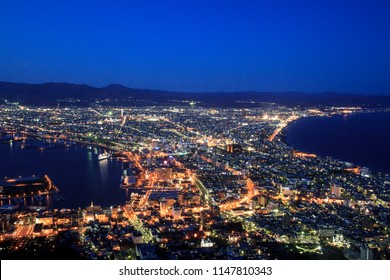 view from the top of Hakodate Hill Japan