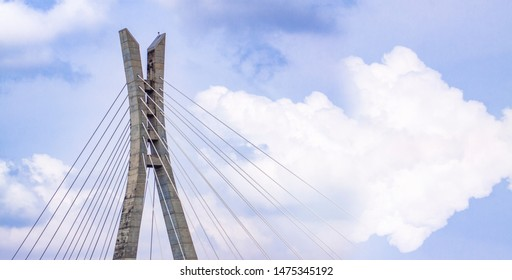 A View of the top of Lekki-Ikoyi link bridge, Lagos Nigeria