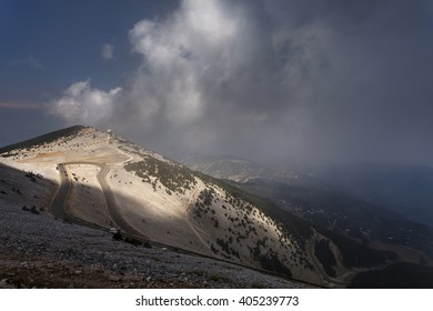 View from the top of Mont Ventoux, Provence, France