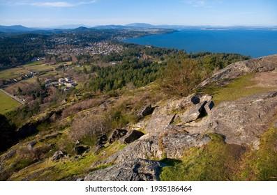 view from top of Mount Doug, Mount Doug Park, Victoria, British Columbia