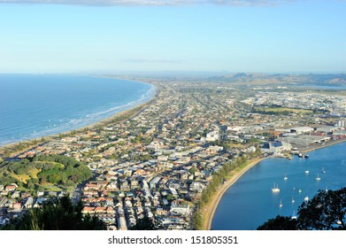 View from the top of Mount Maunganui, north island, New Zealand
