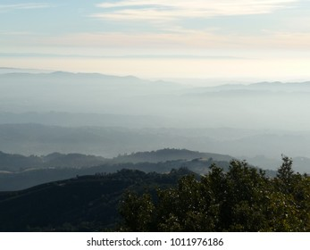A view at the top of Mt. Diablo State Park in California