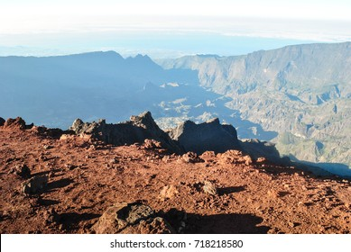 View from top of Piton des Neiges mountain, Reunion Island, France