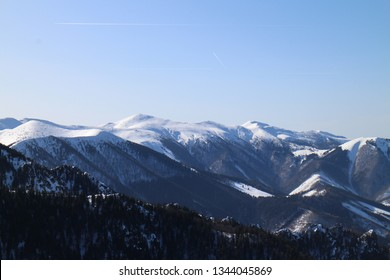 View from the top of Malý Rozsutec 1 343 m in Malá Fatra mountains, Slovakia